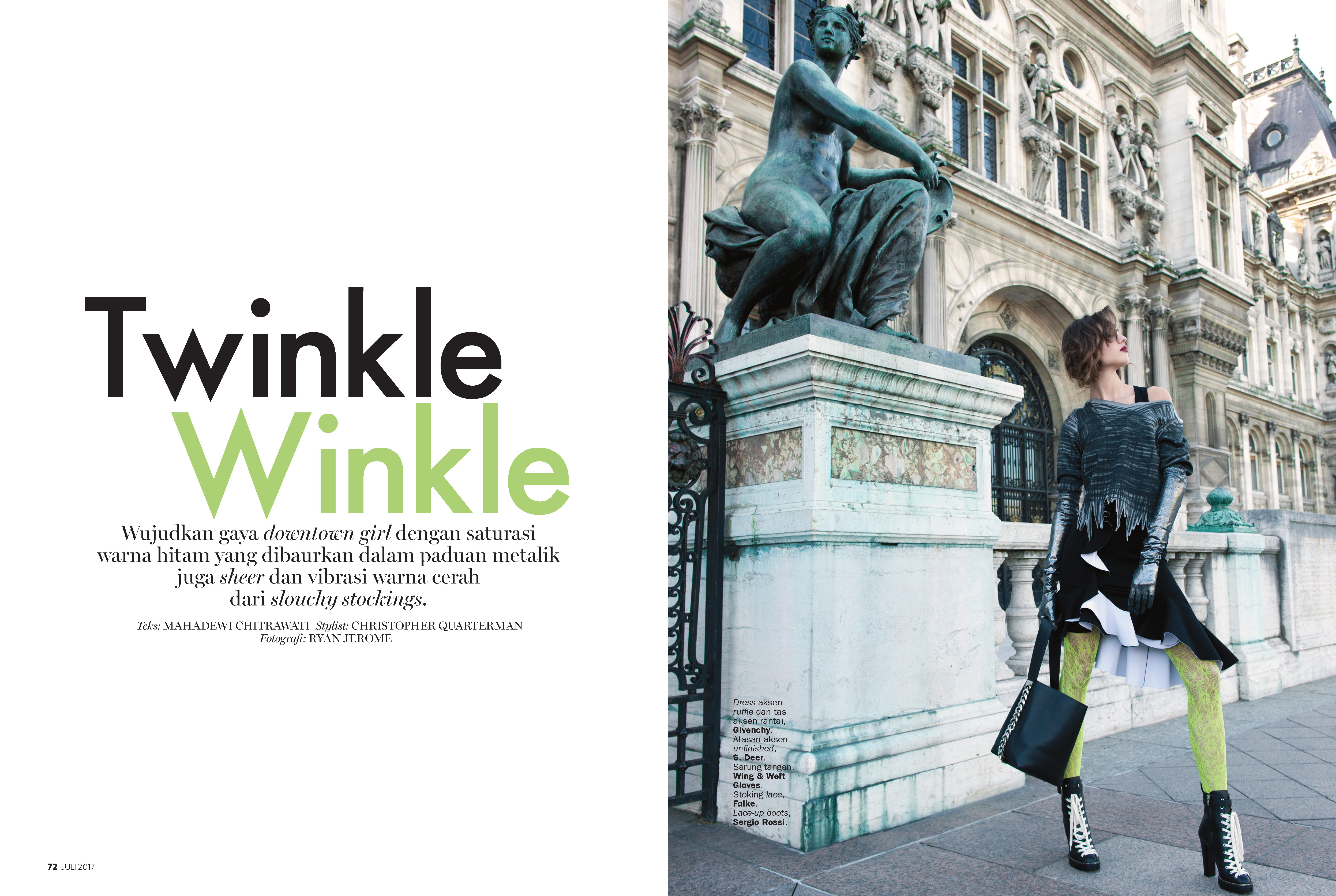 Twinkle Winkle – Marie claire indonesia – august 2017
