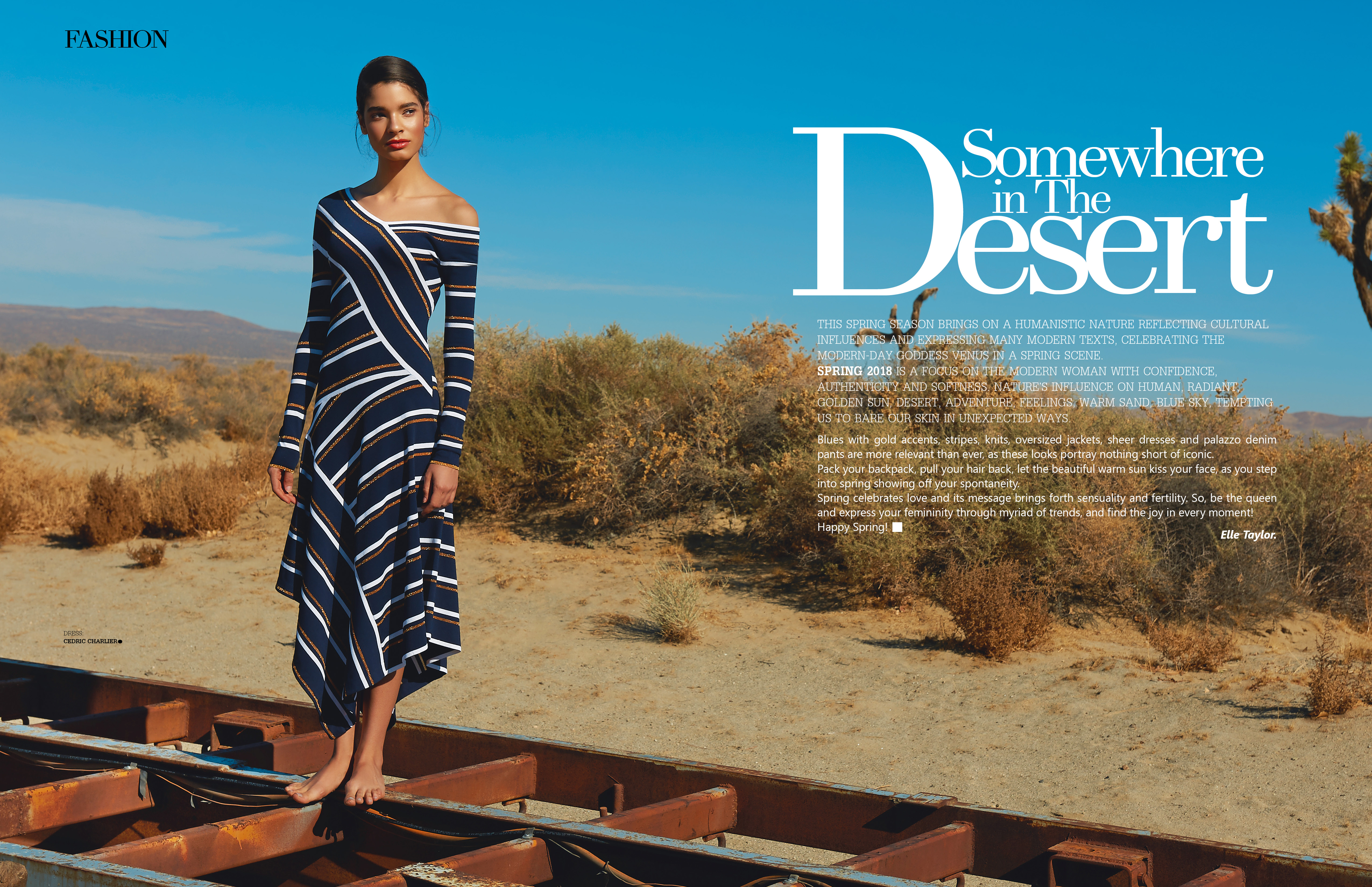 Somewhere In the desert – INLOVE magazine – Spring 2018